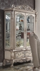 Dresden Vintage Bone White Wood Curio Cabinet by Acme