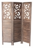 Grant Dark Brown 3-Panel Room Divider by Milton Greens Stars
