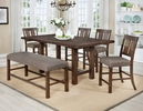 Carmina 2 Gray Fabric Counter Height Chairs by Milton Greens Stars