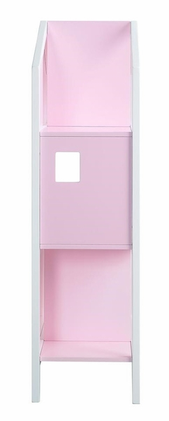 Doll Cottage Pink & White Wood Bookshelf by Acme