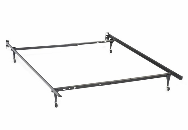 Black Metal Twin/Full Bed Frame for Headboards by Coaster