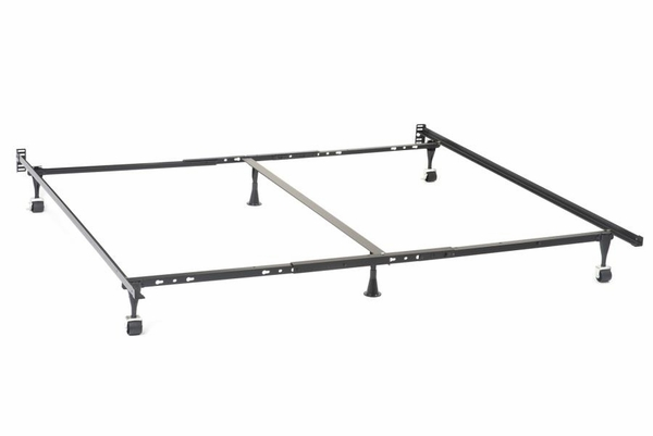 Black Metal Queen/King/Cal King Bed Frame for Headboards by Coaster
