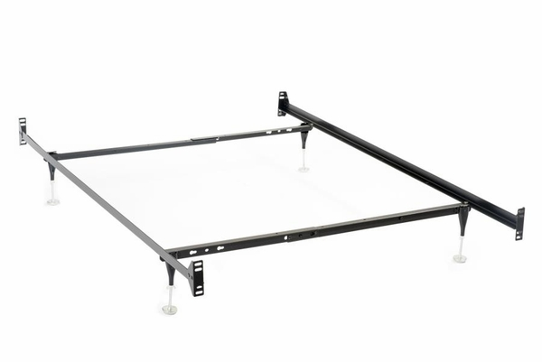 Black Metal Twin/Full Bed Frame for Headboards/Footboards by Coaster