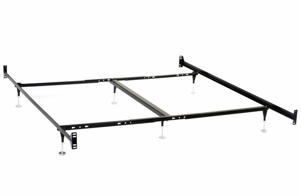 Black Metal Cal King Bed Frame for Headboard/Footboards by Coaster