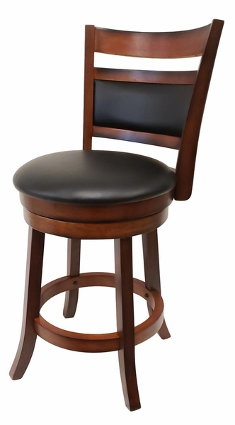 Annora Brown Faux Leather Bar Chair by Milton Greens Stars