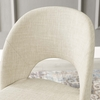 Rouse Beige Fabric/Black Finish Metal Side Chair by Modway