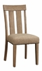 Nathaniel 2 Maple Wood/Fabric Side Chairs by Acme