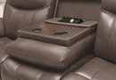 Sawyer 2-Pc Cocoa Leatherette Manual Recliner Sofa Set by Coaster