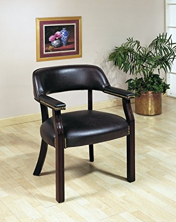 Andie Burgundy Leatherette Upholstered Office Chair by Coaster