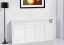 Carola White Wood Cabinet w/2 Shelves by Best Quality Furniture