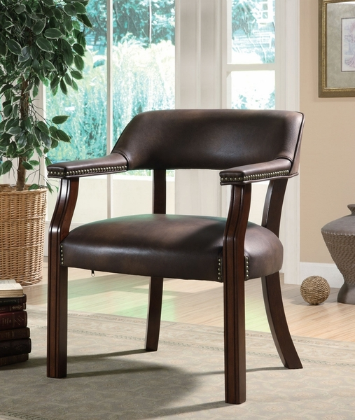 Andie Brown Leatherette Upholstered Office Chair by Coaster
