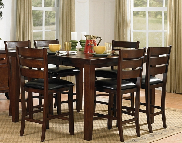 Ameillia Dark Oak Wood Counter Height Table by Homelegance