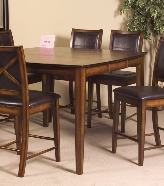 Verona Burnished Oak Wood Counter Height Table by Homelegance