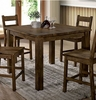 KristenII Rustic Oak Wood Counter Height Table by Furniture of America
