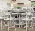 Ann Lee II White/Oak Wood Counter Height Table by Furniture of America