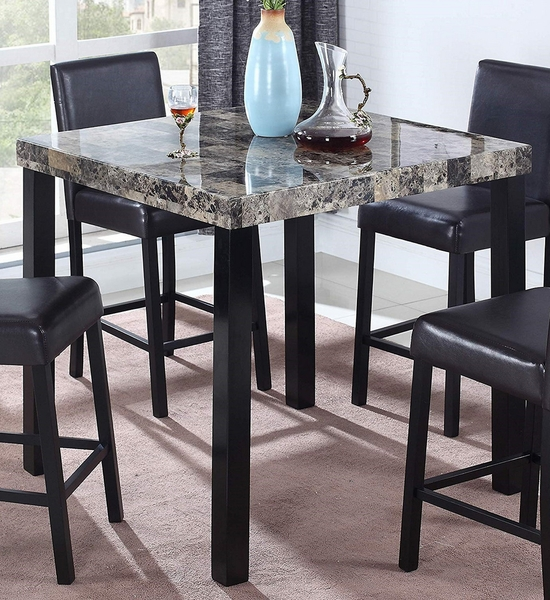 Britney Faux Marble Counter Height Table by Best Master Furniture