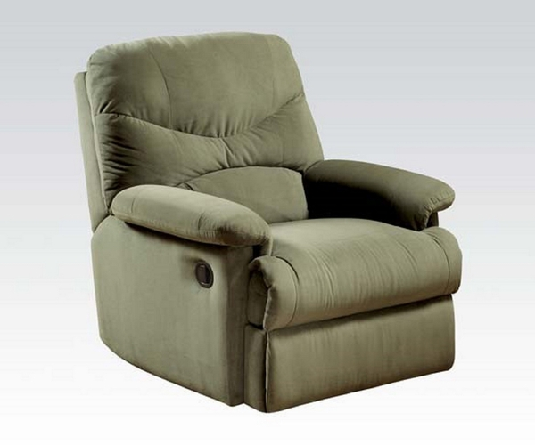 Arcadia Sage Microfiber Manual Recliner by Acme