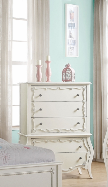 Edalene Pearl White Pine Wood Chest by Acme