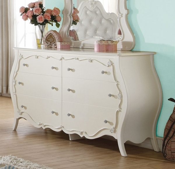 Edalene Pearl White Pine Wood Dresser by Acme