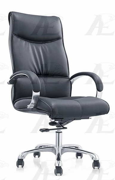 Marita Black PU Leather Office Chair by American Eagle Furniture