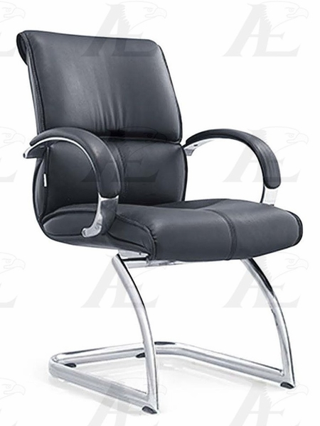 Ofelia Black PU Leather Conference Chair by American Eagle Furniture