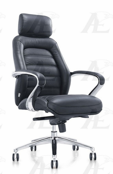 Manola Black PU Leather Office Chair by American Eagle Furniture