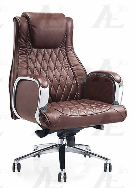 Felisa Brown PU Leather Office Chair by American Eagle Furniture