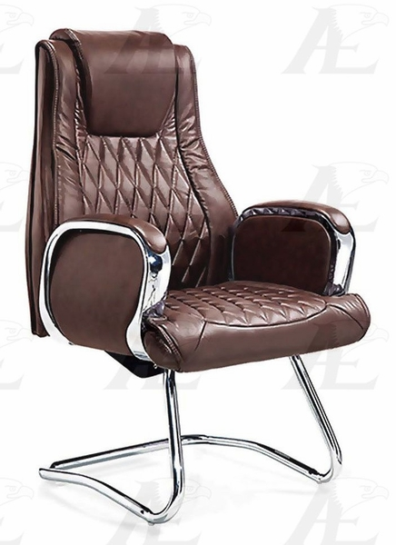 Felisa Brown PU Leather Conference Chair by American Eagle Furniture