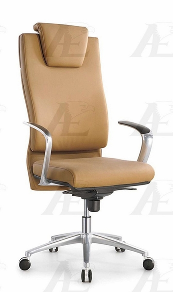 Adelita Yellow PU Leather Office Chair by American Eagle Furniture