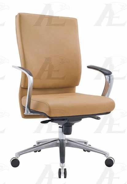 Adelita Yellow PU Leather Conference Chair by American Eagle Furniture