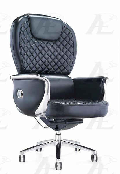 Cristina Black Leather Executive Chair by American Eagle Furniture