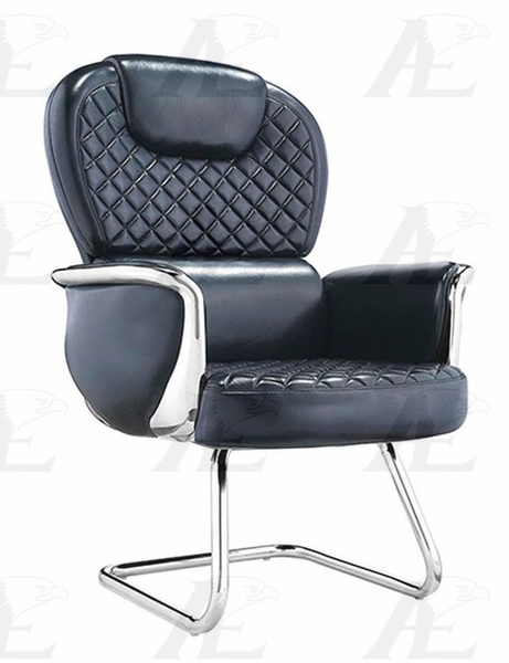 Cristina Black Leather Conference Chair by American Eagle Furniture