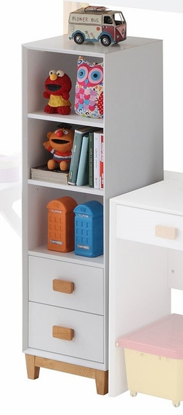 Rutherford White/Natural Wood Bookcase by Acme