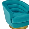 Canyon Blue Velvet Swivel Accent Chair by TOV Furniture