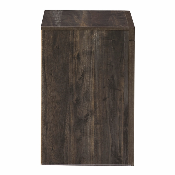 Benchcraft Vay Bay Charcoal Wood 2-Drawer Nightstand by Ashley
