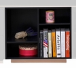 Prescott Black Wood Bookshelf with 4 Compartments by Acme