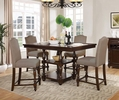 Gregor Walnut Wood Counter Height Table by Best Master Furniture