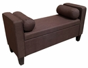 Aalia Brown Linen Bench with Storage by Milton Greens Stars