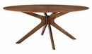 """Crossroads Walnut Wood 71"""" Oval Dining Table by Modway"""