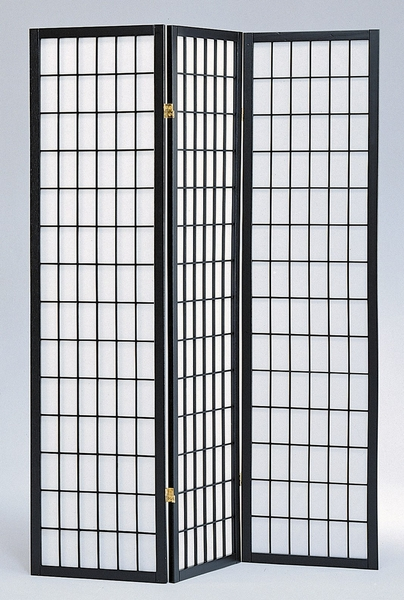 Dean Black Pine Wood/Rice Paper Room Divider by Milton Greens Stars