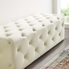 """Amour Ivory Performance Velvet 60"""" Entryway Bench by Modway"""