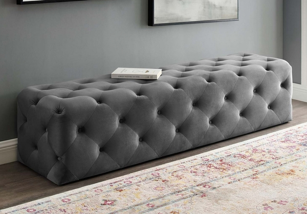 """Amour Gray Performance Velvet 72"""" Entryway Bench by Modway"""