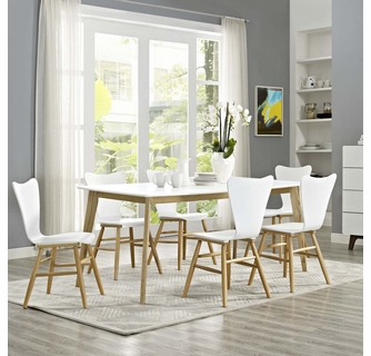 White Modway EEI-2668-WHI Stratum 71 Dining Table