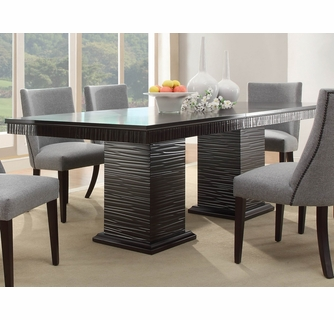 Chicago Espresso Extendable Dining Table Oversized By Homelegance
