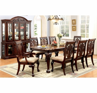 Petersburg Cherry Wood Dining Table, Cherry Wood Dining Room Sets