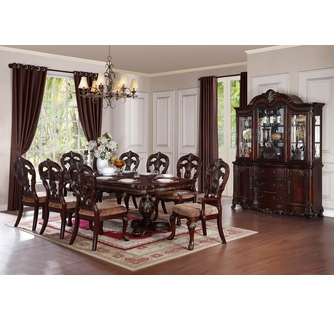 Pc Cherry Wood Dining Table Set, Cherry Wood Dining Room Set