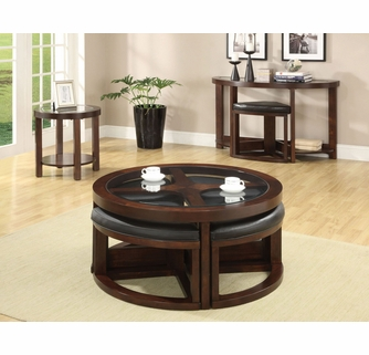 Crystal Cove Ii Coffee Table With 4 Stools By Furniture Of America