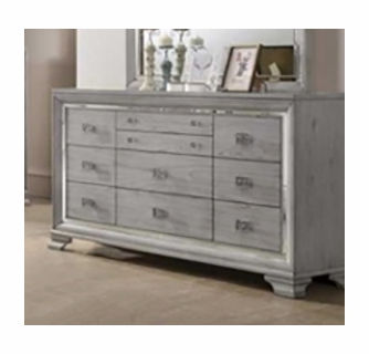 Vail Light Grey Wood Dresser By Crown Mark