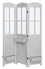 Bridie Antique White Wood 3 Panel Folding Screen by Coaster