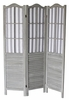 Dot Washed Gray Wood 3-Panel Room Divider by Milton Greens Stars